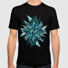 Cracked Icicles Black MEDIUM Mens Fitted Tee