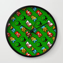 RPG heroes pattern | ff01gg | vintage rpg retro gaming Wall Clock