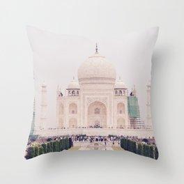 Beautiful man-made wonder Taj Mahal Throw Pillow