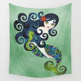 Aquamarine Mermaid Wall Tapestry
