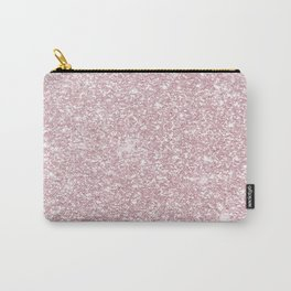 Elegant blush pink abstract trendy girly glitter Carry-All Pouch