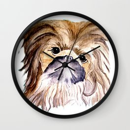 Pekingese love Dogs Wall Clock