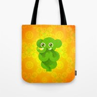 ganesha Tote Bags featuring Ganesha by Plushedelica