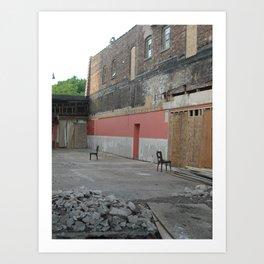 abandoned tango Art Print