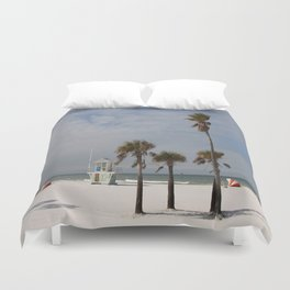 Clearwater Beach In Wintertime Duvet Cover
