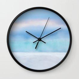 Misty Abstract Wave, Carmel Wall Clock