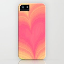 Abstract Tropical Pastel Rainbow Heart Pattern | Valentine's Day iPhone Case