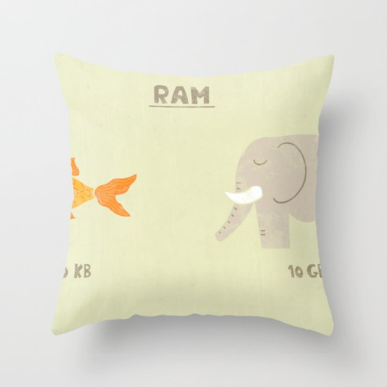 Raminals Throw Pillow