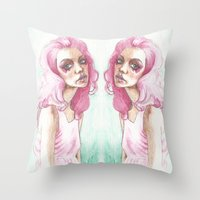 jem Throw Pillows featuring Jem Is Truly Outrageous by BookOfFaces