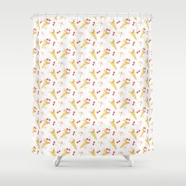 Dragonfly Chill Pattern Shower Curtain