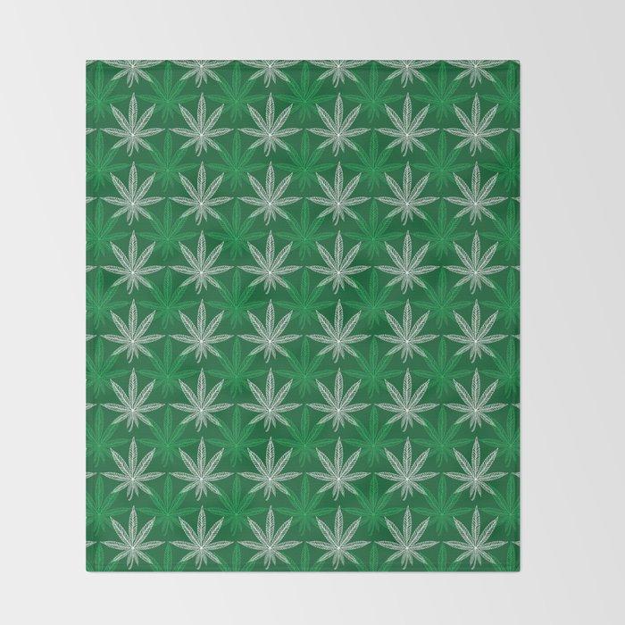 Green Pattern Throw Blanket