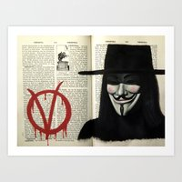 vendetta Art Prints featuring Vendetta by Coreypopp