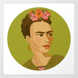 Queer Portrait - Frida Kahlo Art Print