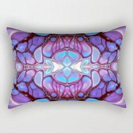 Purple and Pink Kaleidoscope Art Design Rectangular Pillow