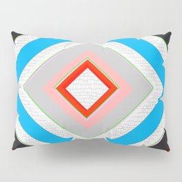 Black Blue Red Pink and White Small Diamond Textured Minimal Simple Pattern Home Goods Pillow Sham
