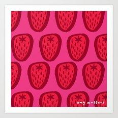 Kent Strawberries Art Print