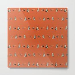 Flying Birds Upon Sunset Metal Print