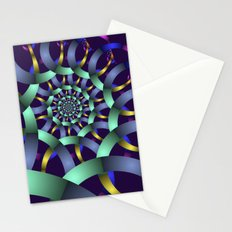 The turquoise spiral Stationery Cards