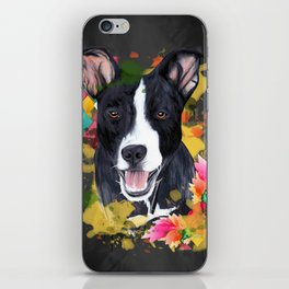 Black pup iPhone Skin