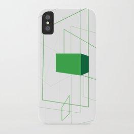 Blueprint #1 (green) iPhone Case