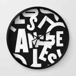Los Angeles Routes Wall Clock