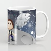han solo Mugs featuring Han Solo & Chewbacca by 7pk2 online