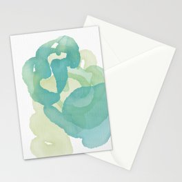 Greens of Spring, transparent, swirling, endless Stationery Cards
