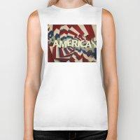 america Biker Tanks featuring America by politics