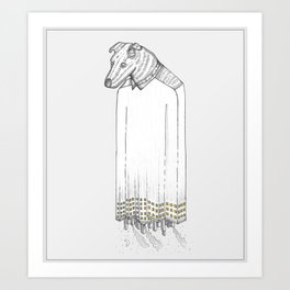 Dog City Art Print