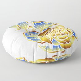 Midas Rose in Charming Blue Floor Pillow
