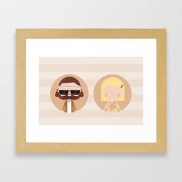 Margot & Richie Framed Art Print