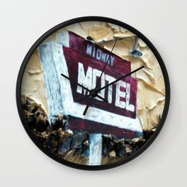 Midway Motel Wall Clock