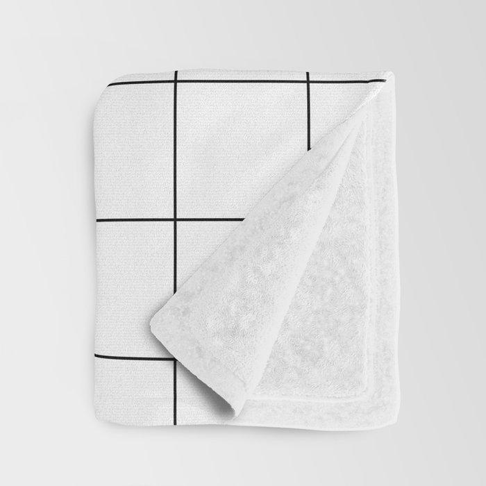 White Grid  /// www.pencilmeinstationery.com Throw Blanket