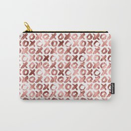 XOXO Kiss Me Rose Gold Pattern Carry-All Pouch