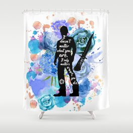 Sam Winchester Quote Shower Curtain