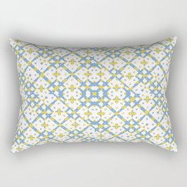 Colorful Check Geometric Pattern Rectangular Pillow