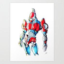 ROBOT MAN 1 Art Print