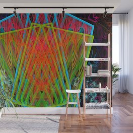 A Psychedelic Hand of Cards Wall Mural