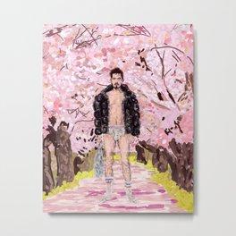 Cherry Blossom Park Dream Guy Metal Print