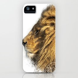 Lion Head Splatter iPhone Case