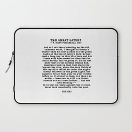 Ending of The Great Gatsby - Fitzgerald quote Laptop Sleeve