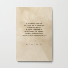 Ralph Waldo Emerson Quote 04 - Typewriter Quote On Old Paper - Literary Poster - Book Lover Gifts Metal Print