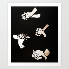 our hands  Art Print