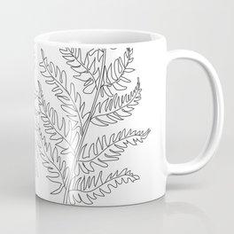 Minimal Line Art Fern Leaves Coffee Mug
