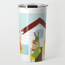 Cats in draining Travel Mug
