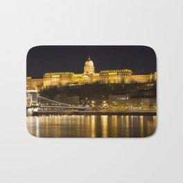Budapest Chain Bridge And Castle Bath Mat