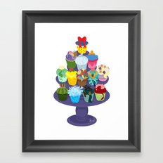 The Princess Cupcake Collection II Framed Art Print