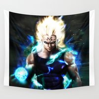 vegeta Wall Tapestries featuring Majin Vegeta real style by Shibuz4