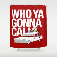 ghostbusters Shower Curtains featuring Ghostbusters by Martin Lucas