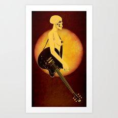 Skull Of Rock Art Print